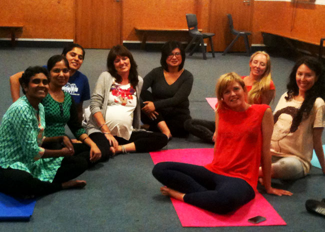 Pregnancy Class with Dr Pooja Maddela (far left)