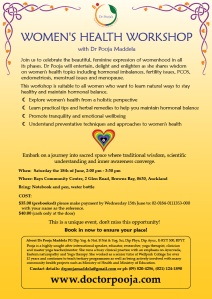 Women's Health Workshop with Dr Pooja