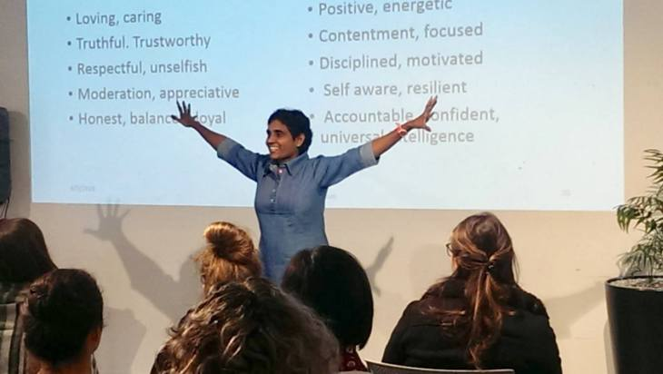 Dr Pooja - presenting at Christchurch Workshop