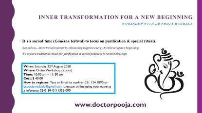 Inner Transformation Workshop August 2020